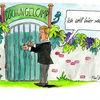 Karikatur, Wulff, Cartoon, Aquarell