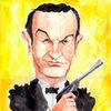 James bond, Karikatur, Sean connery, Cartoon