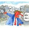 Zeichnung, Trump, Aquarellmalerei, Usa