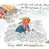 Politik, Usa, Trump, Karikatur