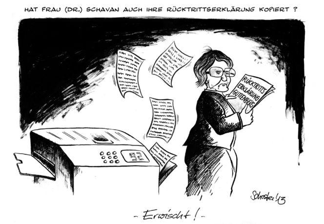 Deutschland, Karikatur, Schavan, Merkel, Cartoon, Zeichnungen