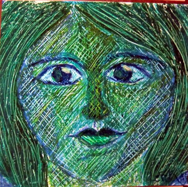 Zeichnungen, Abstrakt, Grün