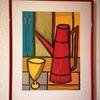 Kanne, Rot, Gelb, Malerei