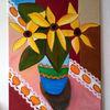 Blumen, Gelb, Sommer, Malerei