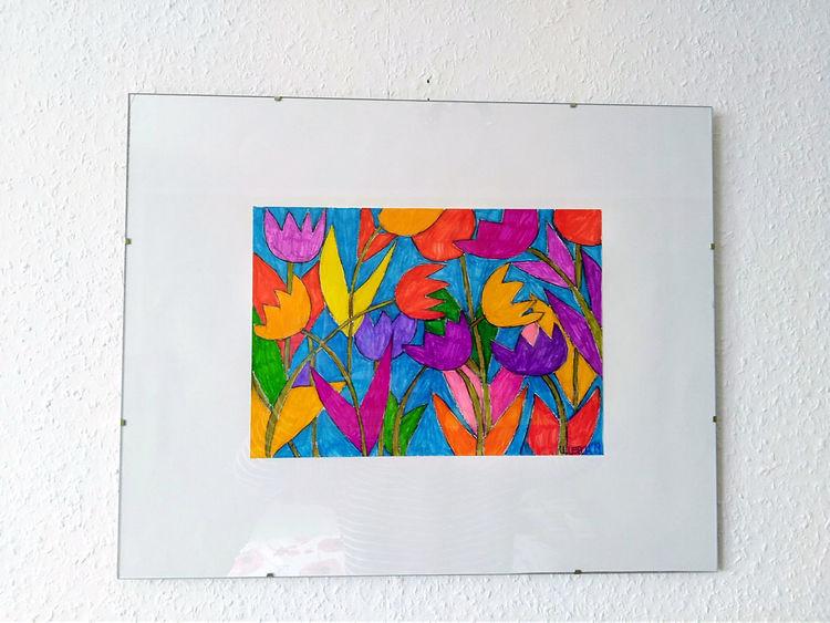 Tulpen, Frühling, Bunt, Zeichnungen