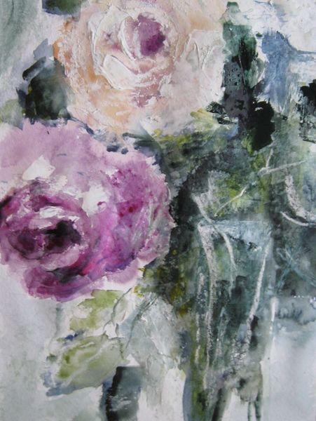 Aquarellmalerei, Nass, Blumen, Aquarell
