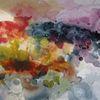 Nass, Abstrakt, Aquarellmalerei, Aquarell