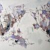 Skizze, Aquarellmalerei, Landschaft, Nass