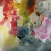 Abstrakt, Nass, Aquarellmalerei, Aquarell