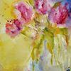 Blumen, Nass, Aquarellmalerei, Aquarell