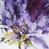Abstrakt, Aquarellmalerei, Blumen, Schicht