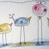 Skizze, Tiere, Aquarellmalerei, Aquarell