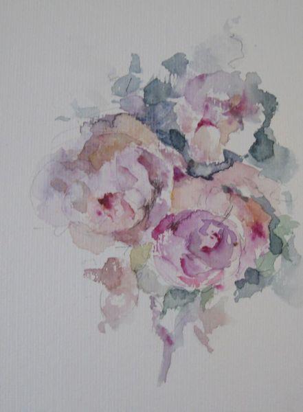 Blumen, Nass, Pflanzen, Aquarell, Liebe