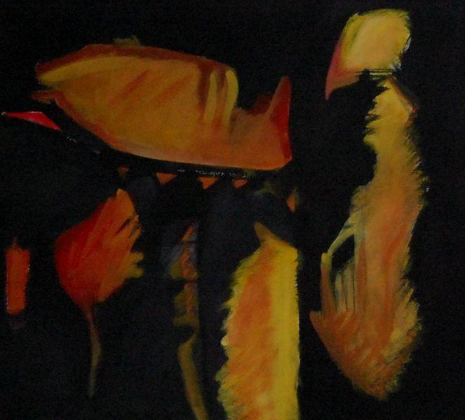 Abstrakter expressionismus, Wahnsinn, Bewusstsein, Malerei, Ölmalerei, Himmel