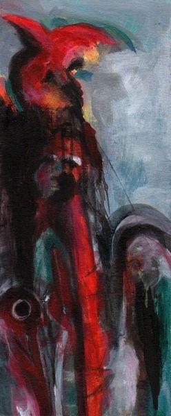 Surreal, Rot, Psyche, Kalt, Malerei