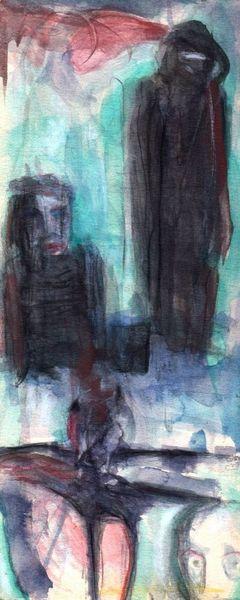 Abstrakt, Figural, Nacht, Surreal, Malerei