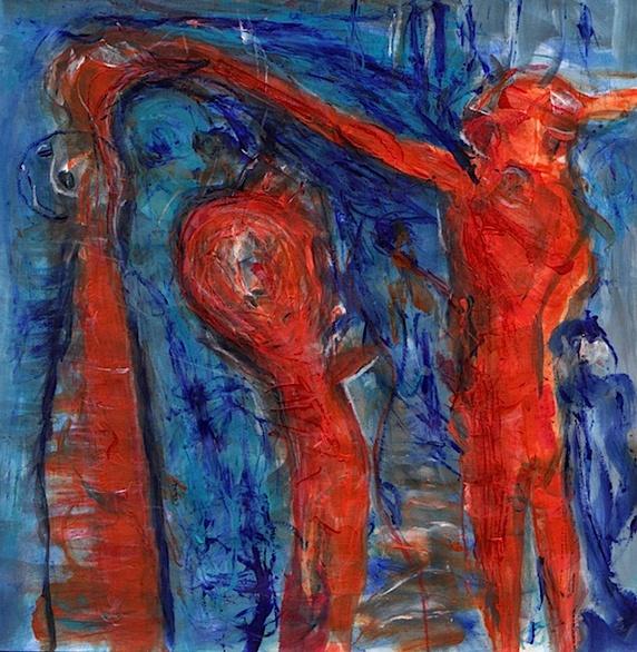 Rot, Psyche, Blau, Wahn, Traum, Malerei