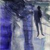 Kalt, Nacht, Blau, Malerei