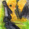 Gelb, Surreal, Menschen, Malerei