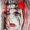 Abstrakt, Surreal, Rot, Malerei