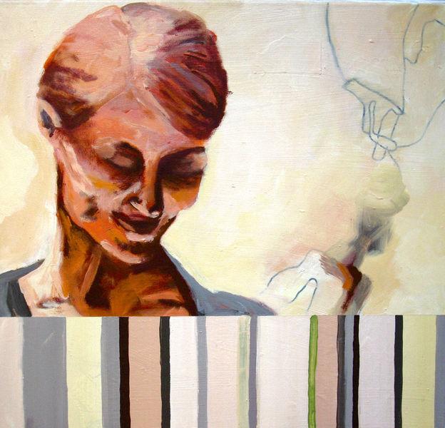 Acryl auf leinwand, Malerei, Frisch