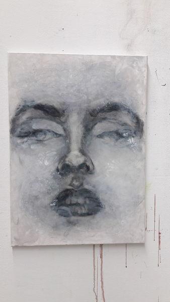 Aussdruck, Gesicht, Abgetaucht, Malerei