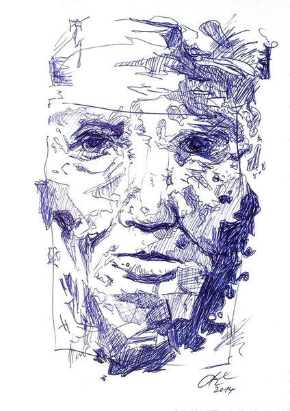 Struktur, Blau, Gesicht, Kugelschreiber, Gefühl, Weiß