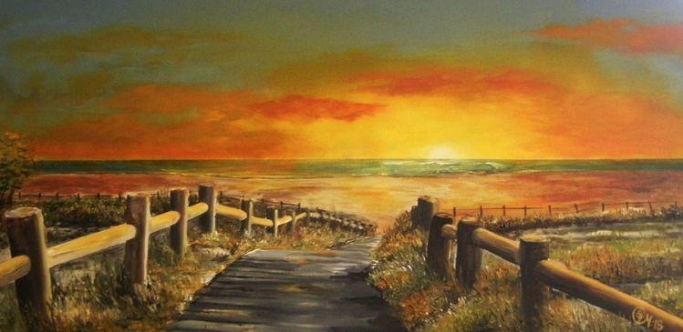 Sonnenuntergang, Sommer, Harmonie, Sonne, Ostsee, Strandaufgang