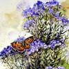 Blumen, Schmetterling, Aquarell, Aquarelle blumen