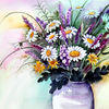 Blumen, Magariten, Lavendel, Aquarell