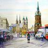 Markt, Sache, Anhalt, Halle