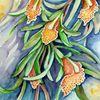 Cymbidium, Aquarellmalerei, Orchidee, Blumen