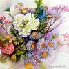 Sommerstrauß, Blumen, Blumenstrauß, Pfingstrose