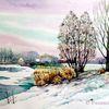 Kleinpösna, Schnee, See, Kiesgrube