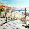 Winter, Landschaft, Weinberg, Winterlich