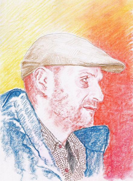 Realismus, Pastellmalerei, Zeichnung, Kreide, Portrait, Profil