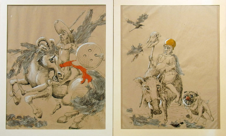 Knopf, Mops, Illustration, Nadel, Rabe, Ziegenbock