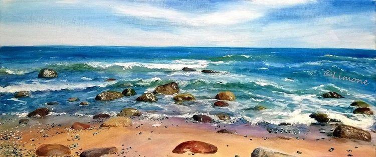 Welle, Meer, Ostsee, Rügen, Sommer, Malerei