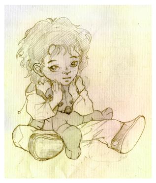 Hobbit, Kind, Teddybär, Illustrationen