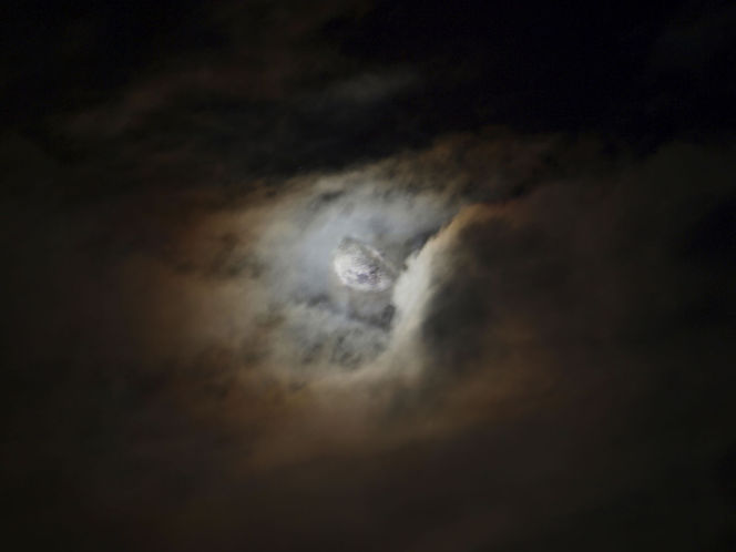 Mond, Rügen, Winter, Fotografie