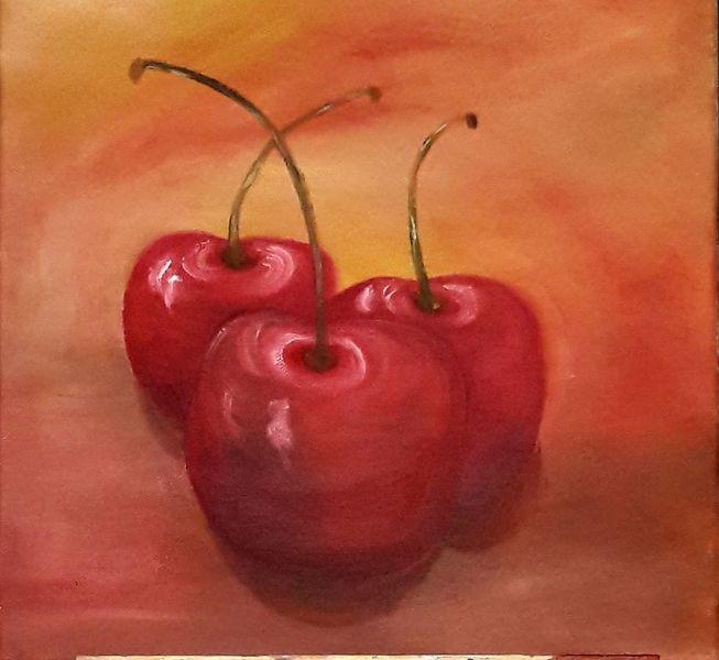 Sommer, Früchte, Kirsche, Malerei