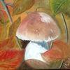 Pilze, Inspiration, Ölfarben, Herbst
