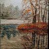 Baum, Landschaft, Himmel, Malerei