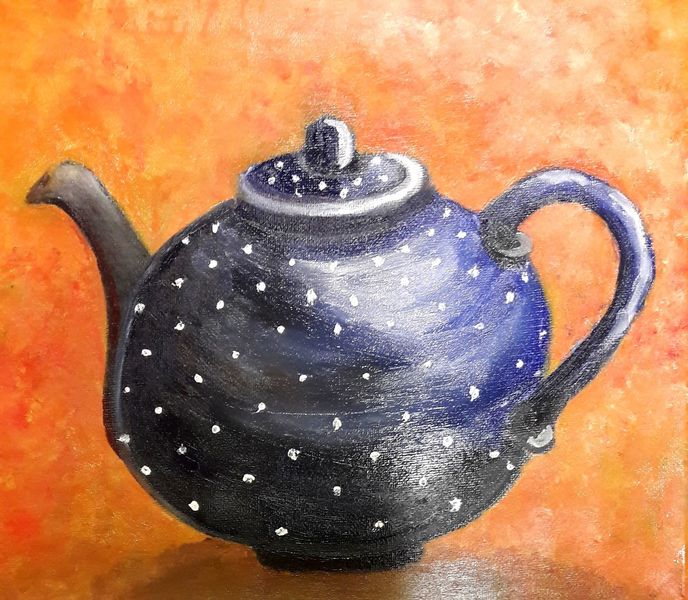 Kanne, Keramik, Tee, Malerei, Teekanne