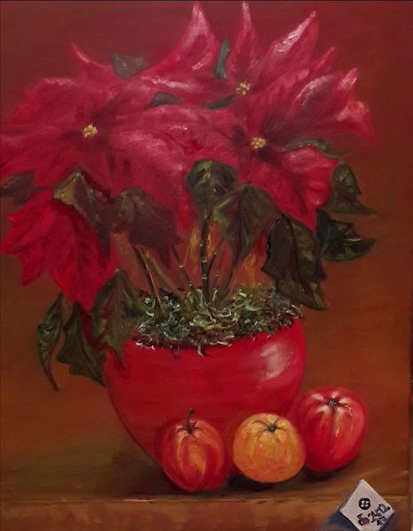 Blumen, Topf, Blüte, Obst, Rot, Weihnachten