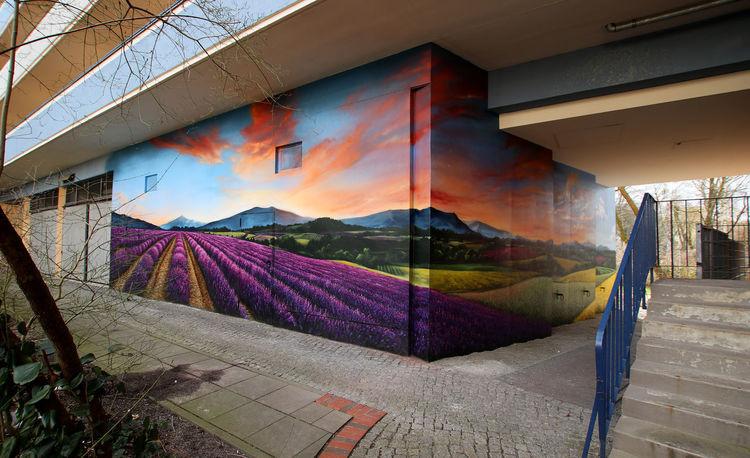 Provence, Lavendel, Fassadengestaltung, Malerei