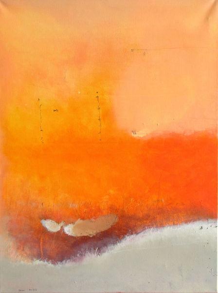 Rot, Wärme, Orange, Malerei,