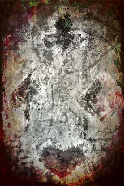 Abstrakt, Szene, Spaten, Card, Stylized, Schatten