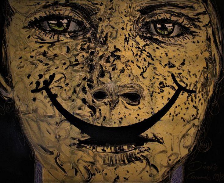 Gesicht, Hunger, Augen, Malerei