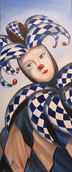 Fasnacht, Expressionismus, Harlekin, Fasching, Malerei